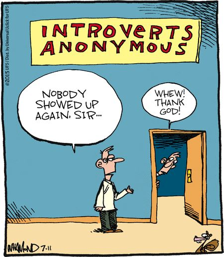 Cartoon of the day-introverts anonymous